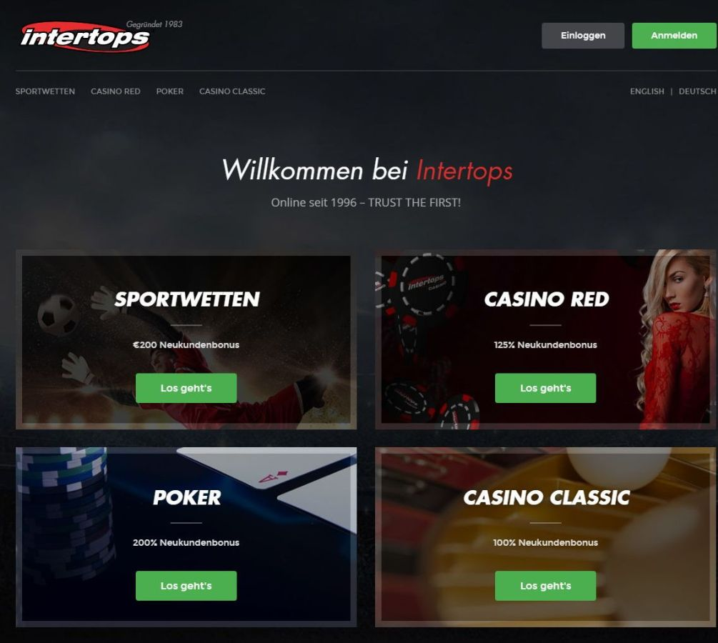 Intertops Sportwetten Casino Poker